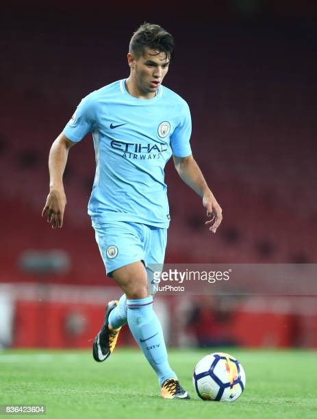 Brahim Diaz of Manchester City Under 23s during Premier League 2 match between Arsenal Under 23s against Manchester City Under 23s at Emirates...