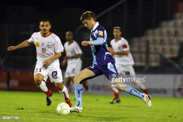 Brahim FERRADJ / Maxime LE MARCHAND - - Brest / Le Havre - 20e journee Ligue 2,