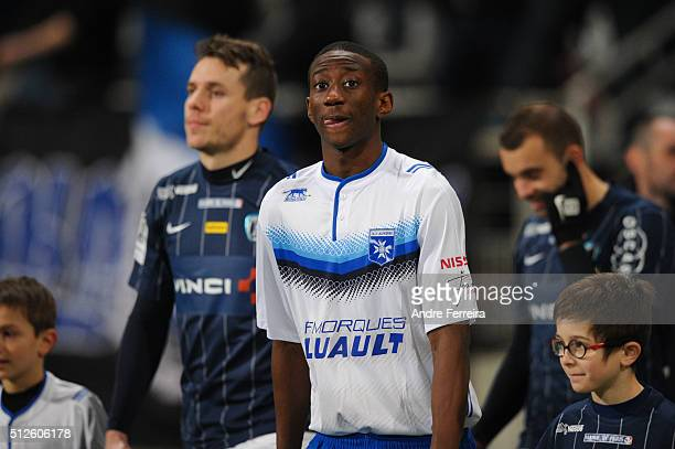 Brahim Konate of Auxerre during the French Ligue 2 match between Paris FC v Auxerre at Stade Charlety on February 26 2016 in Paris France
