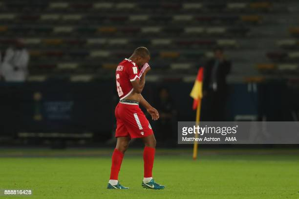 Brahim Nakach of Wydad Casablanca walks off after being shown a red card during the FIFA Club World Cup UAE 2017 match between CF Pachuca and Wydad...