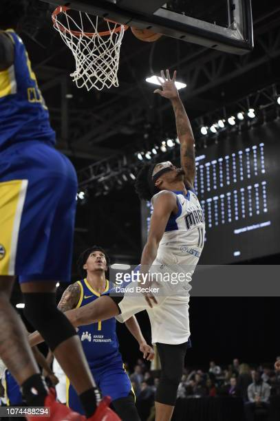 Braian Angola-Rodas of the Lakeland Magic puts up shot against the Santa Cruz Warriors during the NBA G League Winter Showcase on December 20, 2018...