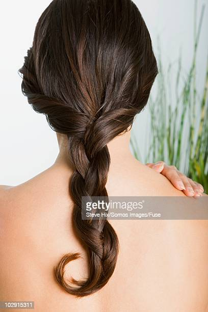 Braid on back of woman