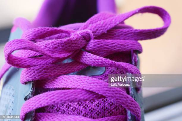 Braided and tied shoelace