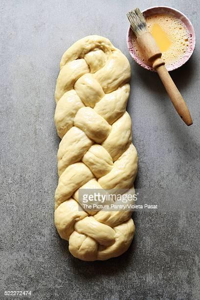 Braided Challah bread dough