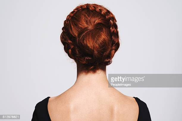 braids and buns - hair bun stock pictures, royalty-free photos & images