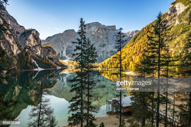 Braies Lake, Dolomite Alps, Italy, Europe