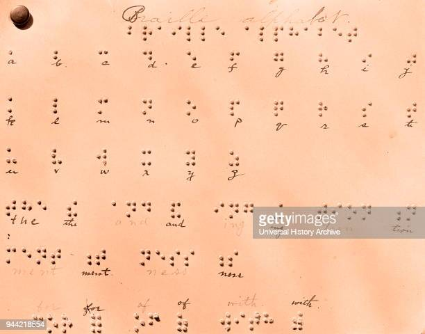 Braille Alphabet, a tactile writing system used by people who are visually impaired. It is traditionally written with embossed paper. Braille users...