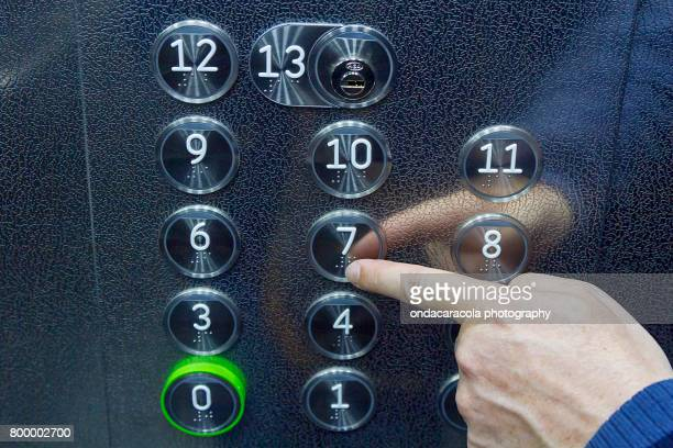 braille on the buttons - assistive technology stock photos and pictures
