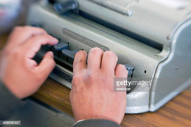 braille typing - braille stock photos and pictures