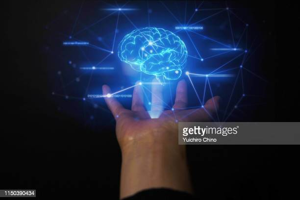 ai brain and network - synapse stock photos and pictures