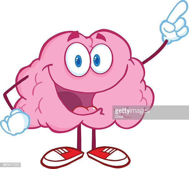 Brain Character Pointing With A Finger