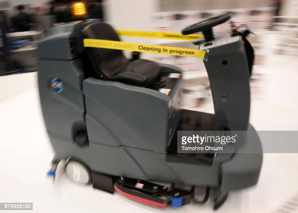 Brain Corp 's autonomous cleaning robot is demonstrated during the