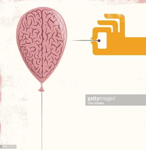 brain damage - balloon - órgão interno humano - fotografias e filmes do acervo