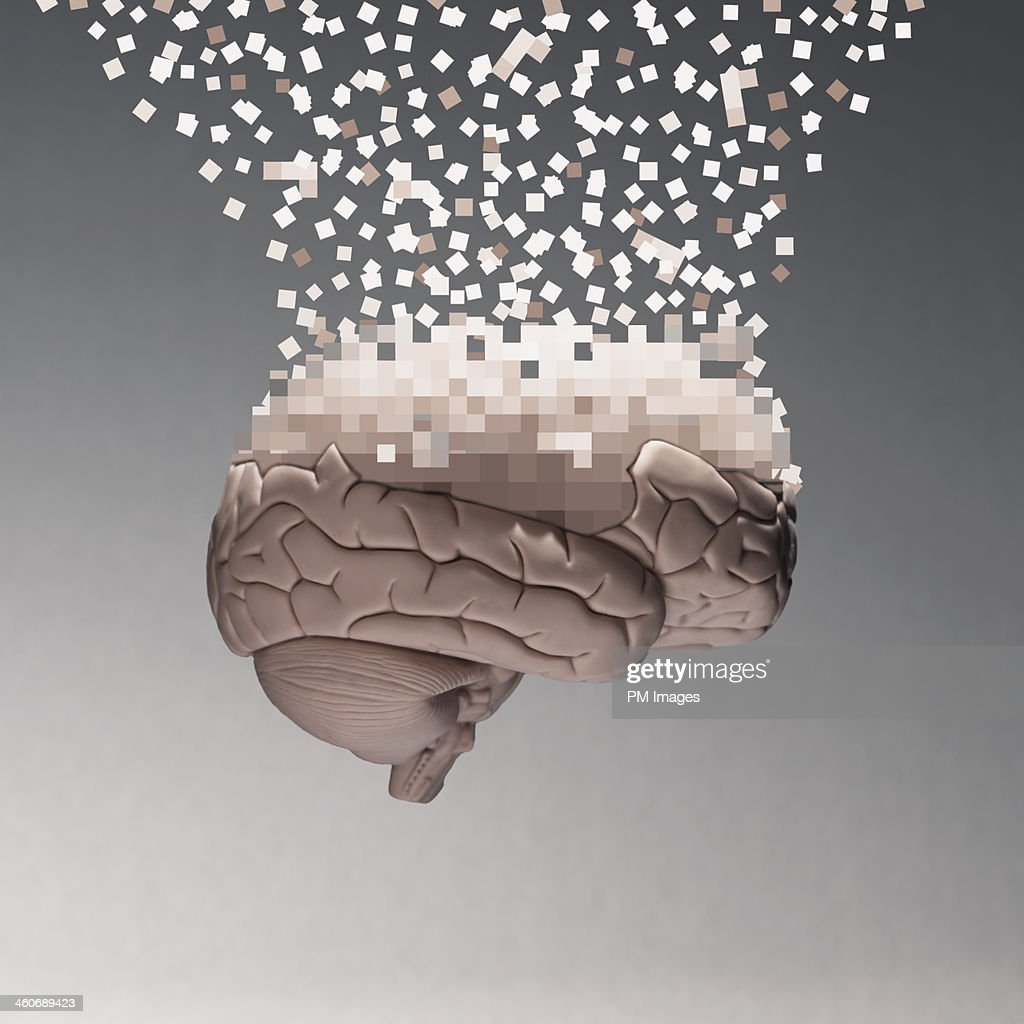 Brain data : Stock Photo