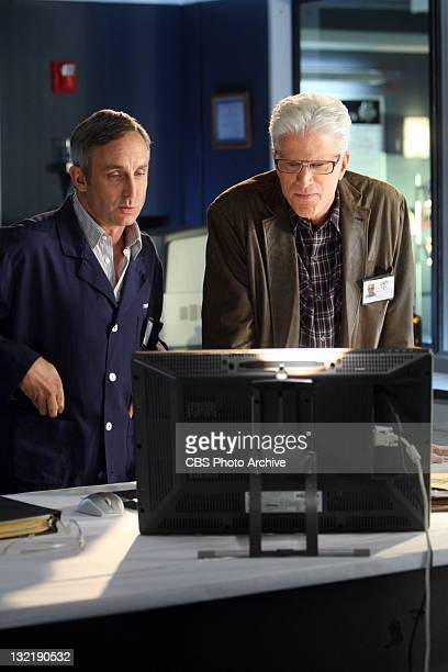 Brain Doe DB Russell and Hodges Wallace Langham during a investigation on CSI CRIME SCENE INVESTIGATION Wednesday Nov 9 on the CBS Television Network