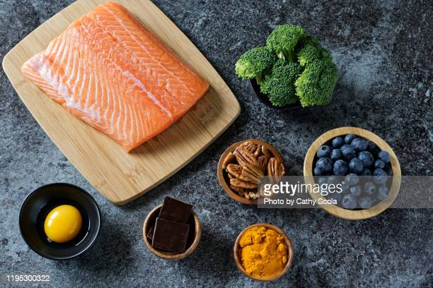 brain healthy foods - protein stock pictures, royalty-free photos & images