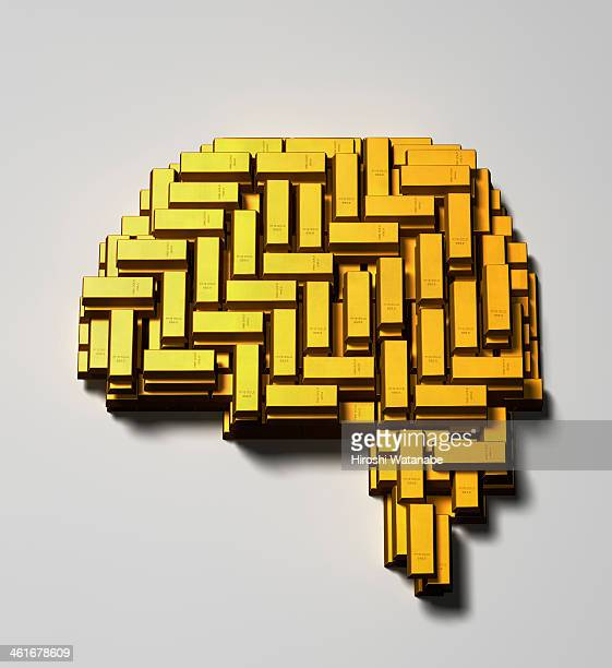 Brain made of  gold bars