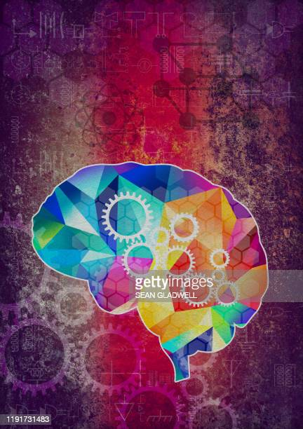 brain power illustration - cerebrum stock pictures, royalty-free photos & images