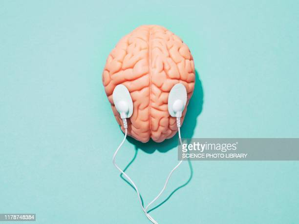 brain stimulation, conceptual image - eeg stock pictures, royalty-free photos & images