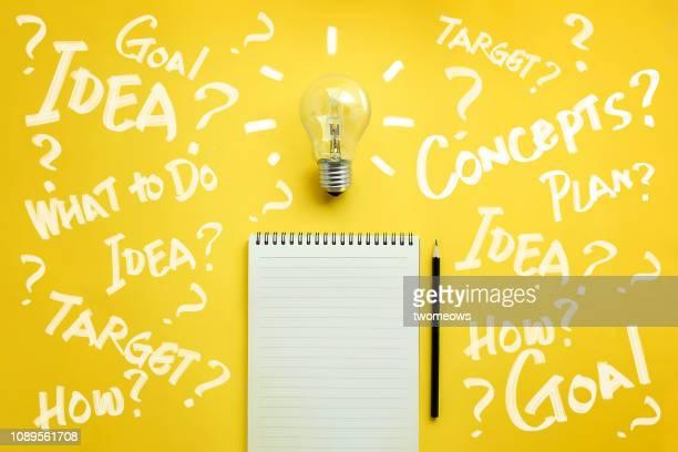 brain storming conceptual still life. - brainstorming stock pictures, royalty-free photos & images