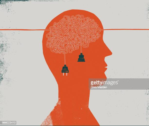 brain tangle - mental health stock pictures, royalty-free photos & images