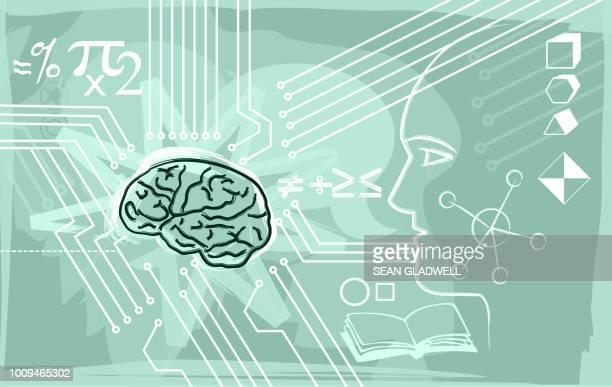 Brain training graphic illustration