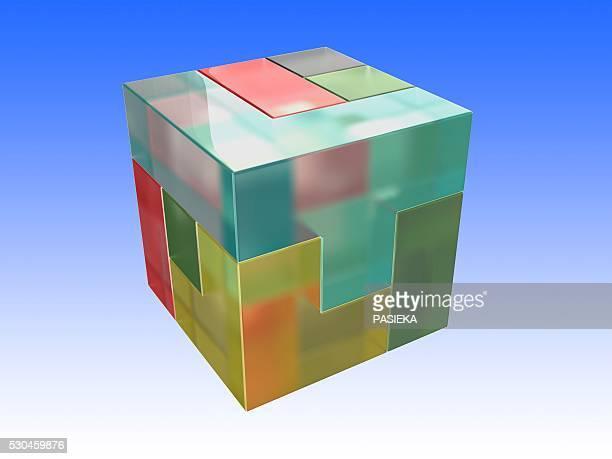 Brain twister cube, artwork