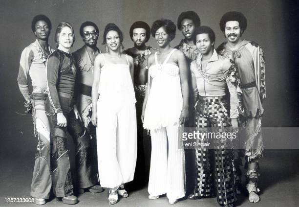 Brainstorm was an American funk and RB band active since the 1970s with Billboard Record of the Year success Here shown in later years a publicity...