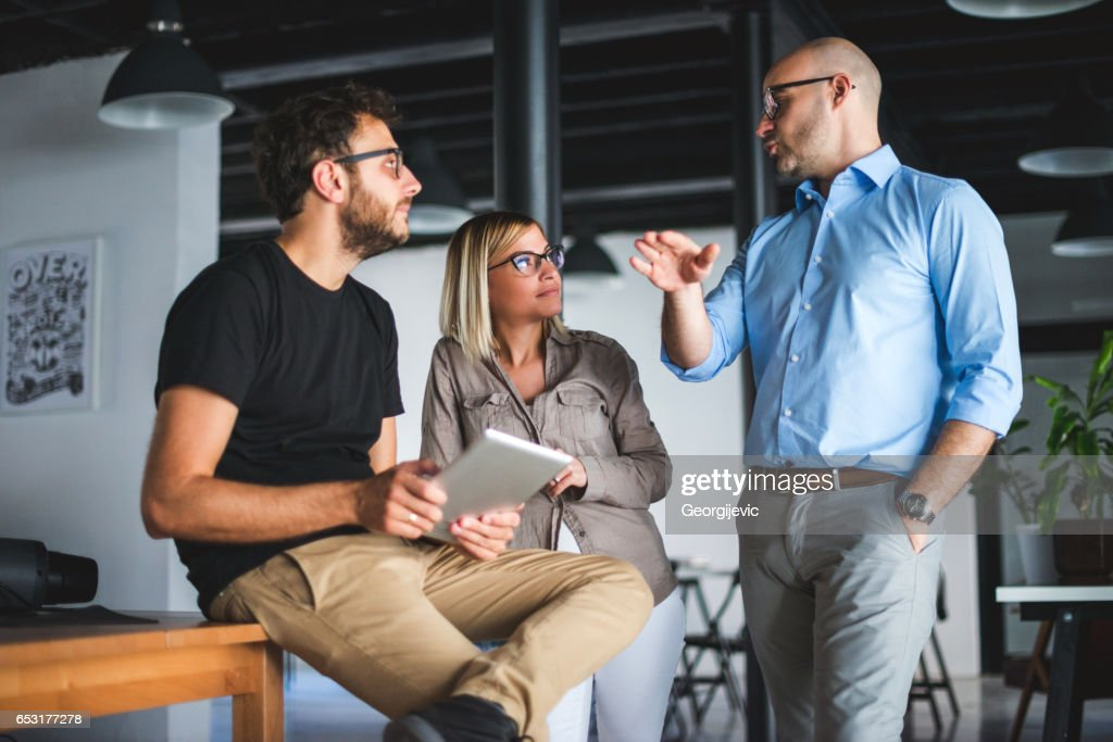 Brainstorming about business : Stock Photo