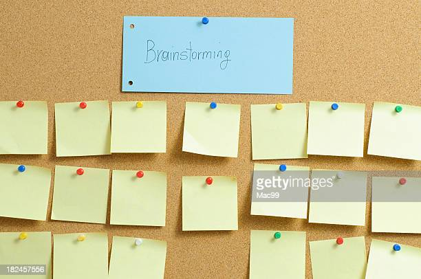 Brainstorming concept with sticky notes