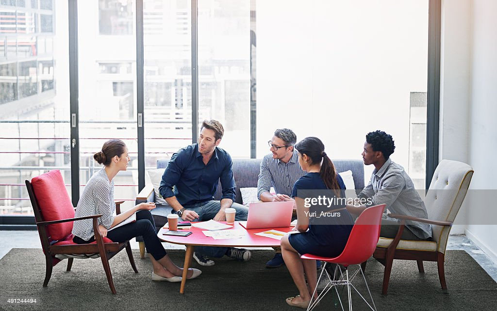 Brainstorming session in progress : Stock Photo