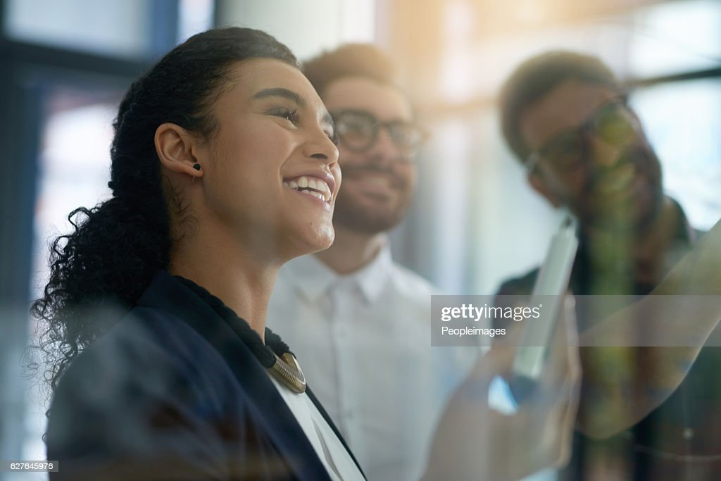 Brainstorming they're way to success : Stock Photo