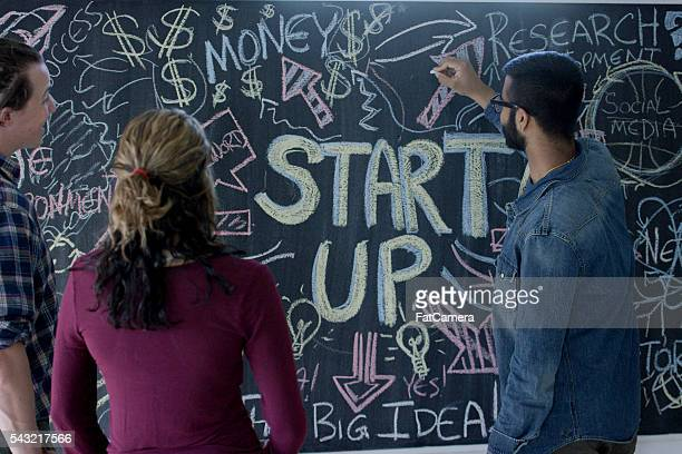 Brainstorming Together with a Chalkboard