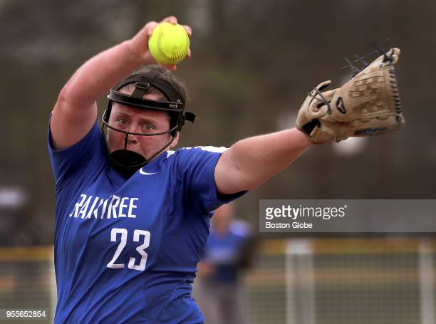 Braintree pitcher Erin Barry pitches a shutout for the 10 victory over Newton North during a game in Braintree Mass on May 4 2018