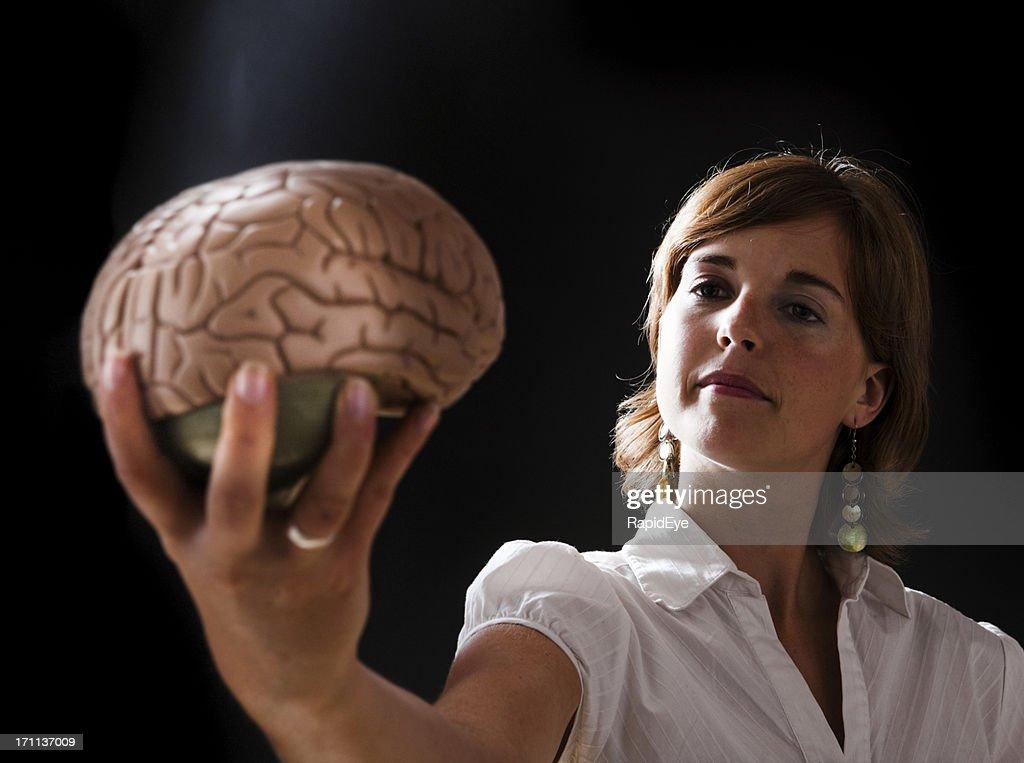 Brainy woman : Stock Photo
