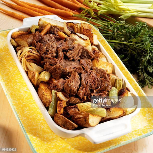 Braised beef with vegetables