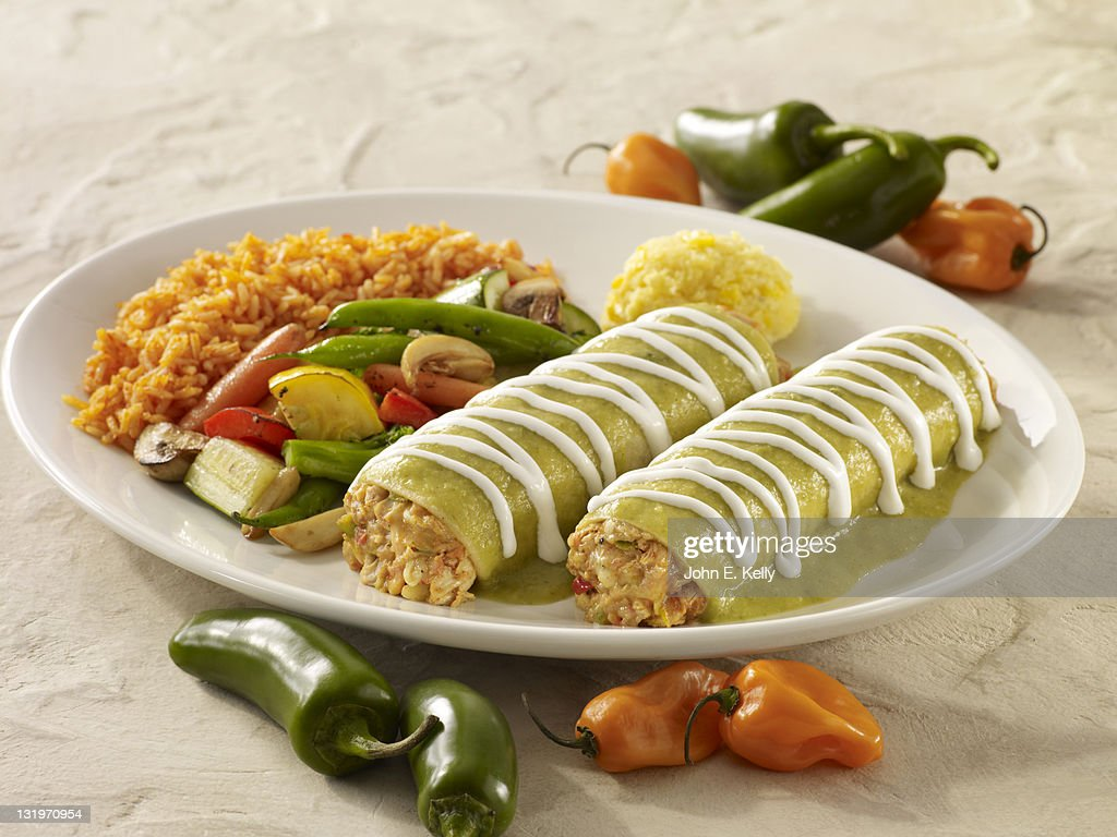 Braised Chicken Enchiladas : Stock Photo