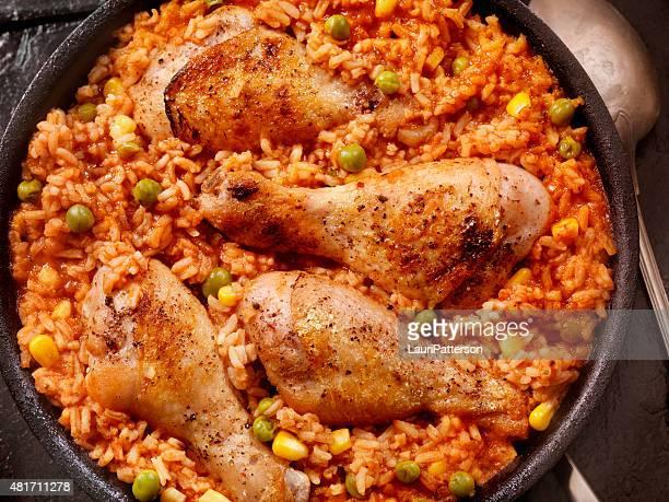 Poulet braisé dans une tomate de riz et de légumes