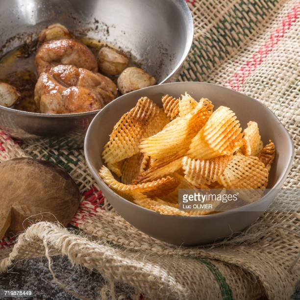Braised sweetbreads with wafers