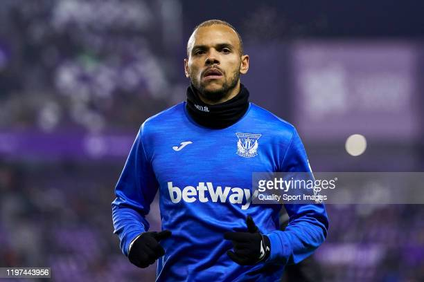Braithwaite of CD Leganes looks on prior the game during the Liga match between Real Valladolid CF and CD Leganes at Jose Zorrilla on January 03 2020...