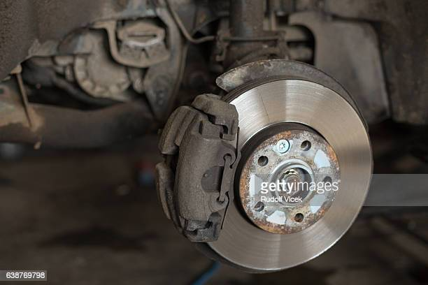 Brake disc close up
