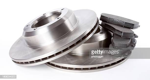 brake discs and pads - vehicle part stock pictures, royalty-free photos & images