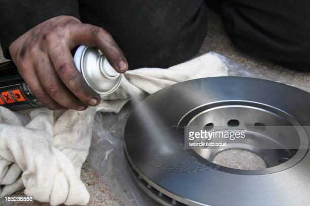 Brake disk cleaner