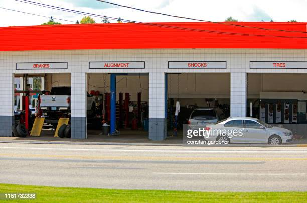 brakes, alignment,shocks and tires business - canadian tire centre stock pictures, royalty-free photos & images