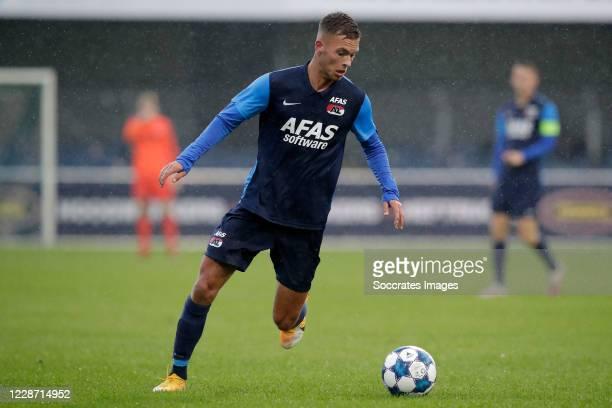 Bram Franken of AZ Alkmaar U23 during the Dutch Keuken Kampioen Divisie match between FC Dordrecht v AZ Alkmaar U23 at the Riwal Hoogwerkers Stadium...
