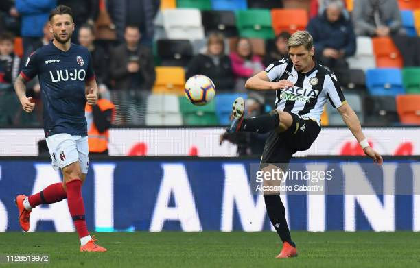 Bram Nuytinck of Udinese Calcio in action during the Serie A match between Udinese and Bologna FC at Stadio Friuli on March 3 2019 in Udine Italy