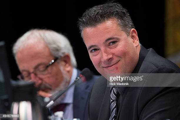 Brampton Regional Councillor Michael Palleschi during public submissions to council Brampton City Council meets at the Rose Theatre to discus the LRT...