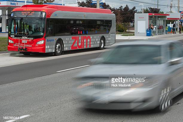 09/15/10 BRAMPTON ONTARIO Brampton Transit launches Zum a new express bus service on designated routes New transit shelters are heated One of the...