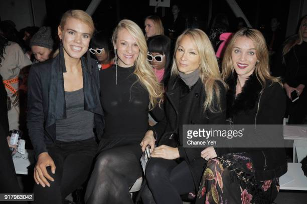 Brana Dane Consuelo Vanderbilt Costine Indira Cesarine and Amy Louise Bailey attens the Vivienne Tam front row during New York Fashion Week at Spring...