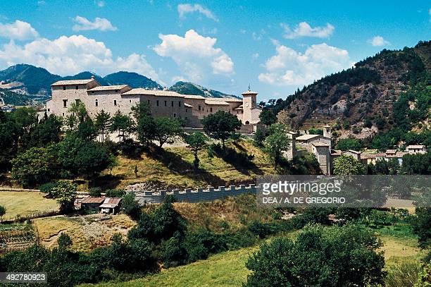 Brancaleoni castle, 11th-16th century, Piobbico, Marche, Italy.